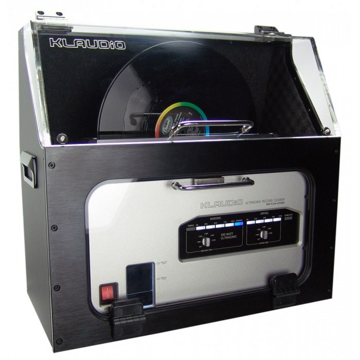Klaudio's silencer is a very high quality acoustic dampening case for the KD-CLN-LP200 ultrasonic record cleaner. With a substantial noise reduction down to approximately 50dBA, records can now be cleaned and dried nearby instead of in another room. The e